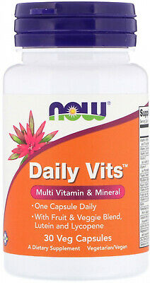 Now Foods, Daily Vits, Multi Vitamin and Mineral, 30 Veg Capsules