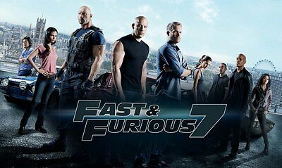 Affiches Fast And Furious Paul Walker Vin Diesel 2 3 4 5 6 7 Cinéma Affiche #2