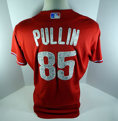 ffb3994bf 2018 Philadelphia Phillies Andrew Pullin  85 Game Used Red ST Jersey