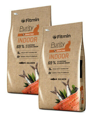 2x10kg Fitmin Cat Purity Indoor getreidefreies Katzenfutter