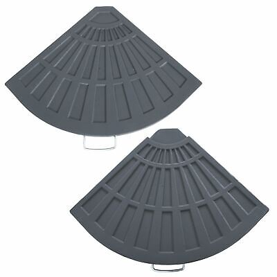 Azuma Outdoor Heavy Overhanging Parasol Base Weight 1/4 Slab Grey 14kg or 20kg