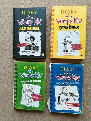 4 Diary of a Wimpy Kid Books by Jeff Kinney