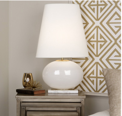 NEW Hollywood Regency Transitional Mid Modern Table Lamp White Marble 30""