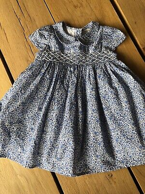 Next Baby Girl Blue Floral Dress 6-9 Months