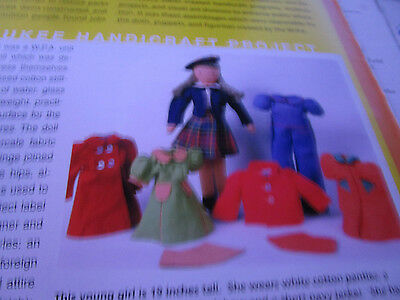 8pg W.P.A. Dolls Puppets and Figurines Doll MAGAZINE ARticle/Charles Waisbren b