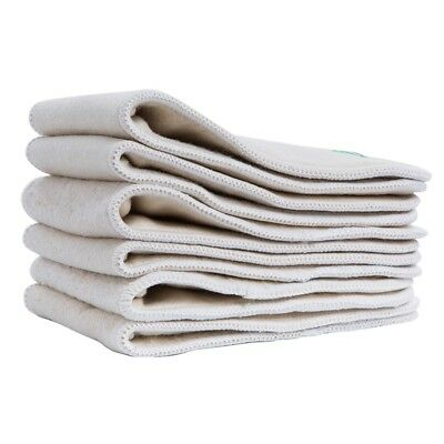 10PCS Ananbaby Hemp & Organic Cotton Insert 4 Layers Liner for Baby Cloth Diaper