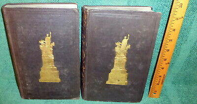 RARE SET 1844 BOOKS- LIFE & SPEECHES OF HENRY CLAY by DANIEL MALLORY