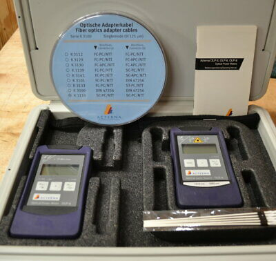 JDSU Optical Power Meter/Laser Source Kit OLP-6, OLS-6 1310/1550nm GOOD, NICE