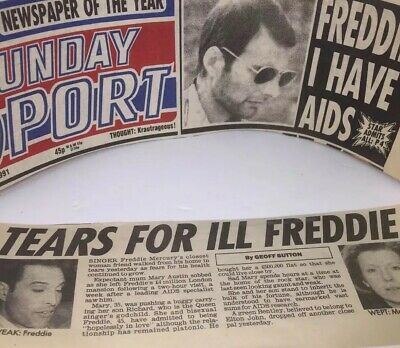 Queen/freddie Mercury Mary Austin Tears Uk Newspapers Clipping🇬🇧1991 Authentic