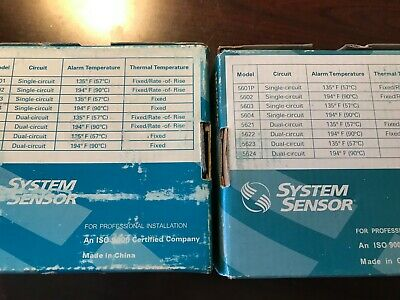 Two (2)  NEW in BOX - System Sensor 5600 Series Heat Detector, total of 2 ++++++