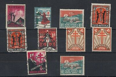 South Africa 1932/43 Christmas Stamp Collection MH/VFU J4555