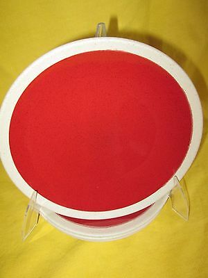 Essential Home Red with White Band SALAD PLATE 1 of 4 available have more items