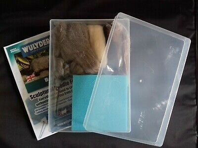 Badger Needle Felt Kit in A4 plastic box British Wool
