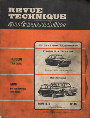 RTA revue technique automobile n° 343 MINI BRITISH LEYLAND 1975