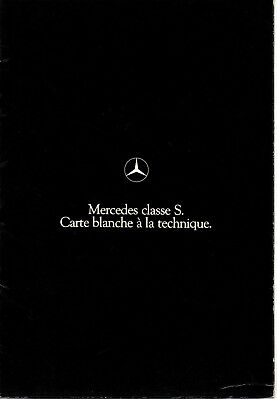 Depliant brochure catalogue MERCEDES 280 350 SE 450 SEL SLC SL