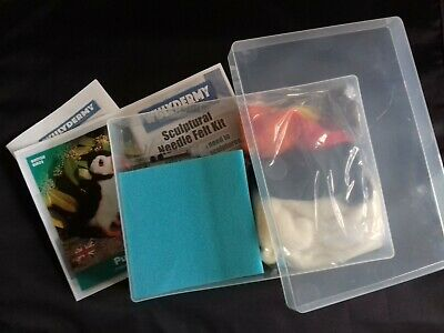 Puffin Needle Felt Kit in A4 Plastic box British Wool
