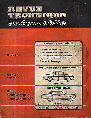 RTA revue technique automobile N° 265 OPEL COMMODORE GS