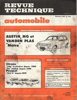RTA revue technique automobile N° 428 AUSTIN MG VANDEN PLAS METRO