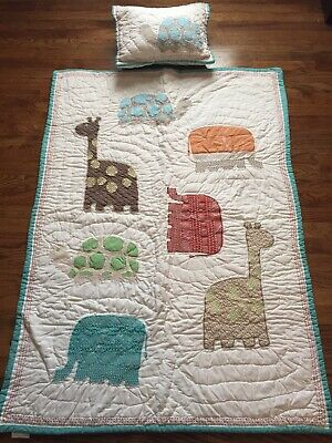 Pottery Barn Kids Nursery Quilt And Matching Pillow With Insert
