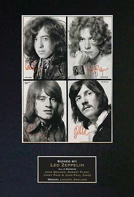 Led Zeppelin 4 Signatures/Autographs(FULL BAND) Signed Photograph - Museum Grade