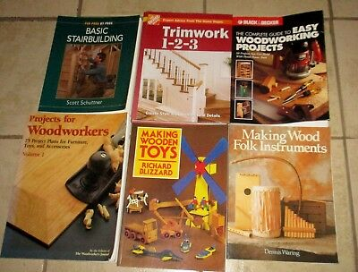 Lot 6 Woodworking Wood Projects How To Build Trimwork Staircases Woodworker Toys
