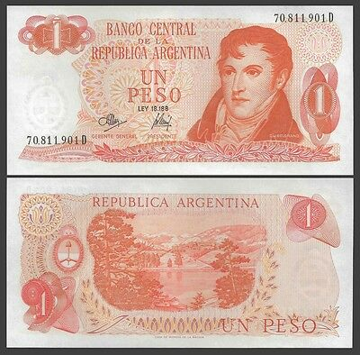 Argentina 1 PESO Serie D ND (1970-73) P 287 UNC OFFER !