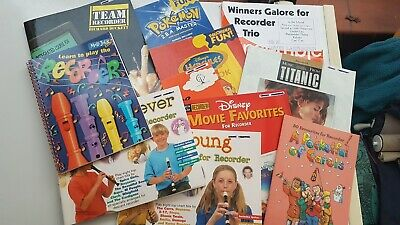 Recorder music book bundle.