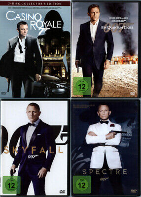 James Bond 007 - Casino Royale + Ein Quantum Trost + Skyfall + Spectre