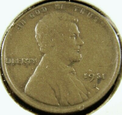1911-S Lincoln Wheat Cent Penny, VERY FINE VF Condition, Semi-Key Date C#6