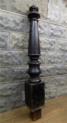 Newell Post Porch Column Wood Architectural Salvage Repurpose Railing Vintage f