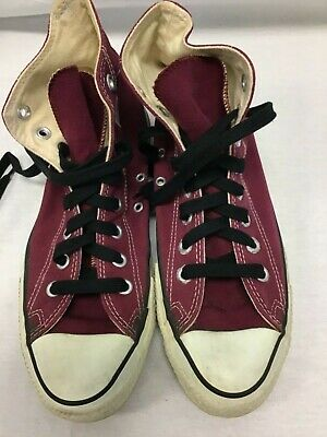 5cbc76c1f3d7 Vtg. 80 s Converse Mens Sz 7 MAROON All Star Chuck Taylor Hi Top Sneakers  USA