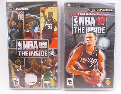 Psp Sony Playstation - Nba 09 & 10 The Inside - Factory Sealed - 2 Game Lot(41L)