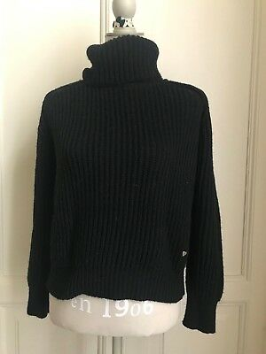 Maglione collo alto nero beige PLEASE black beige turtleneck jumper sweater