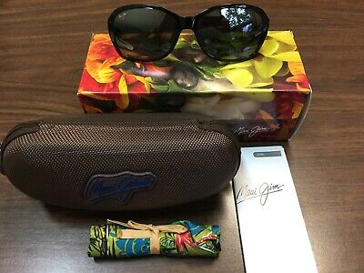 fe28a487fa979 New In Box Maui Jim Sunglass Koki Beach 433-11T Black   Gray Tortoise