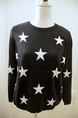 Maglione nero stelle Springfield black star sweater jumper L