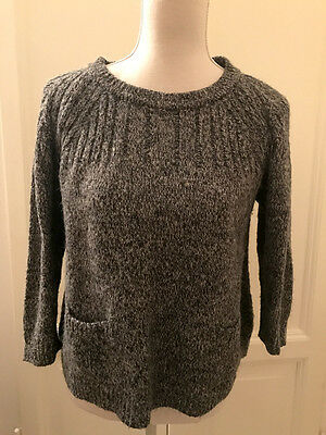 Maglione grigio sale e pepe TOPSHOP grey sweater jumper UK12 EU40 IT44