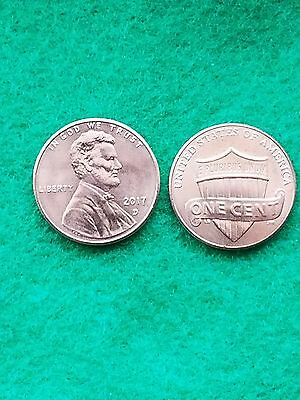 2017 D- Lincoln Shield Cent Bu Unc From Bank Roll