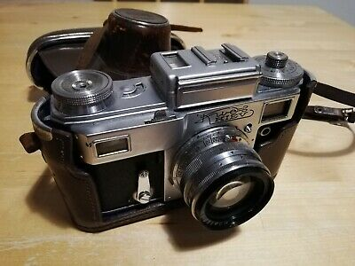 Vintage Kiev Soviet Camera And Case, Very Collectible