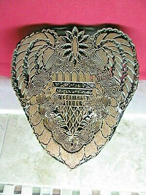 Heart Shaped Batik Stamp, Block For Fabric-Large And Intricate-Copper Stamperc