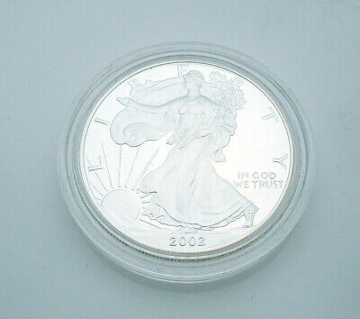 2002-W American Eagle Walking Liberty $1 One Ounce Proof Silver Coin G8
