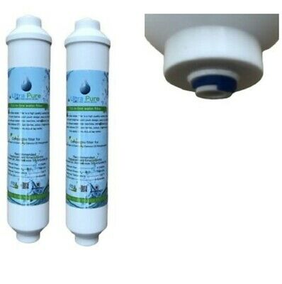 2 x In Line Fridge Water Filters Compatible with Samsung, Daewoo, LG etc