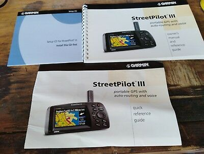 garmin streetpilot iii 3 owner's manual reference guide instruction booklet