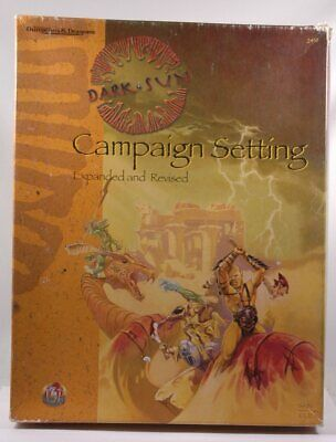 DARK SUN EXPANDED AND REVISED CAMPAIGN SETTING VF! Cloth D&D