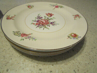 """SET OF 6 Household Institute Homer Laughlin China Priscilla - 8"""" SALAD PLATE LOT"""