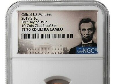 """2019 S Lincoln Cent """"S"""" Mint Mark Proof FIRST DAY OF ISSUE NGC PF70RD (Portrait)"""