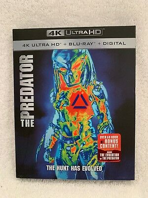 The Predator (2018, 4K Ultra HD+Blu-ray+Digital) NEW, FREE shipping