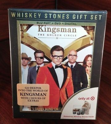 Kingsman Golden Circle(Bluray+DVD+UV)Collector EditionWhisky Stones Giftset-NEW