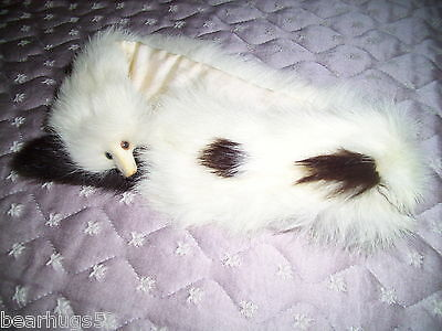 Antique Rabbit Fur Neck Warmer with Face Made in Japan Label Attached Retired