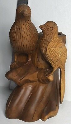 Antique Primitive Wood Carved Bird Folk Art Carving Birds Sculpture Wooden