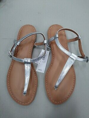 4c0e856bb9ac NWT size 7 Old Navy WOMAN FASHION ROMAN THONG GLADIATOR ANKLE SANDALS  SILVER  22